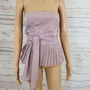 Zara Blouse Size S Strapless Pink